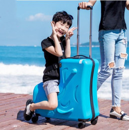 suitcase 24 Australia - Designer- Fashion Cute Kids Trolley Suitcases On Whreeels Childn Carry On Spinner Rolling Luggage Travel Student School bag free shipping