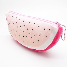 cosmetic bag make up Australia - Fashion Cute Dragon Fruit Velvet Wallet Pencil Case Pen Bags Purse Plush Pouch Storage Stationery Woman Make Up Cosmetic Handbag