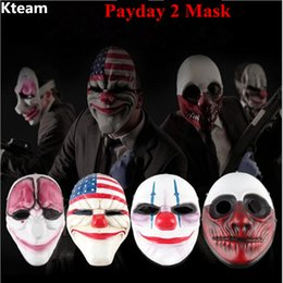 Dallas Mask UK - Payday 2 Mask PVC The Heist Dallas Wolf Chains Hoxton cosplay halloween horror clown masquerade cosplay Carnaval Costume men
