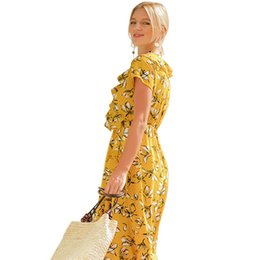 $enCountryForm.capitalKeyWord NZ - 2019 New Pattern mini club Dress Printing Long Fund V Lead Self-cultivation On Vacation Beach Skirt woman dresses models plus Free shipping