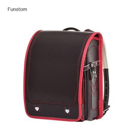 $enCountryForm.capitalKeyWord Australia - High Quality Children Orthopedic Backpack For Boy And Girl PU Leather School Bags For Kids Book Bags Box Type Satchel 2018
