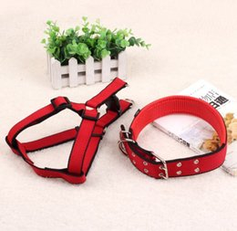 adjustable nylon dog collars Australia - Pet Dog Collars Buckle Dog Collar Nylon Leash Adjustable Dog Harness Pet Necklace Rope Puppy Comfort Harness