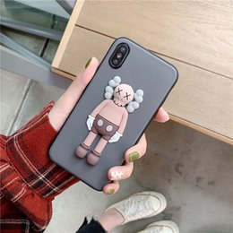 wholesale cell phone cases free shipping Australia - Fashion Brand Doll Phone Case for iphone 6 7 8 X XS Mas XR Faux Leather Cell Phone Shell free shipping