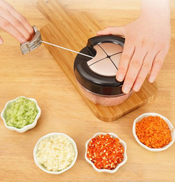 $enCountryForm.capitalKeyWord Australia - Hand 3 knife multi-function chopping machine meat grinder pressure garlic kitchen gadgets fast and labor-saving strong and easy to use