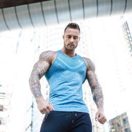 $enCountryForm.capitalKeyWord Australia - T-shirt Tank Vest Top Herren Mens New Fashion Fitness Gym Workout Sport Running MMA Quick Dry Breathable Round Collar Sleeveless Sportswear