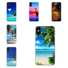 iphone spray Canada - Custom For Xiaomi Redmi Note 2 3 3S 4 4A 4X 5 5A 6 6A Pro Plus Soft Fashion Cell Case Sea Beach Spray Palm Trees Tropical