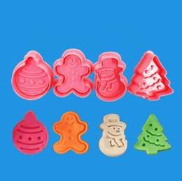 halloween cookies cutters NZ - Christmas Biscuit Mould Halloween Christmas Fondant Cutter Xmas Biscuit Moulds New Year Baking Biscuit Mold FDA ABS LXL795