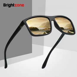 steampunk lights UK - Brightzone 2020 Man Polarized Light Sunglasses Driver Outdoors Motion Classic Sun Glasses Vintage Steampunk Eyewear