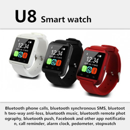 U8 Smart Watch Iphone Australia - Bluetooth U8 Smartwatch Wrist Watches Touch Screen For iPhone 7 Samsung S8 Android Phone Sleeping Monitor Smart Watch