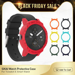 $enCountryForm.capitalKeyWord NZ - SIKAI 5pcs Tempered Glass Screen Protector For Ticwatch E Anti-Scratch Protective 3pcs Screen Guards For Ticwatch E Watch Case