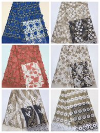 $enCountryForm.capitalKeyWord Australia - High Quality Swiss Voile Lace Fabric African Lace Fabric Cotton Embroidery Stone Nigeria Big Lace Fabric for Women Wedding Dress