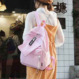 $enCountryForm.capitalKeyWord NZ - Canvas Big Capacity Backpack Women Harajuku Letter Travel Backpack Purse Design Large Schoolbag For Teenage Girls Bookbag Casual