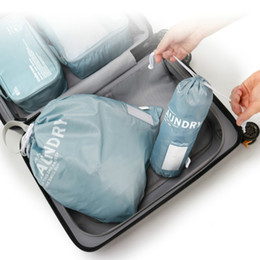 $enCountryForm.capitalKeyWord NZ - 2pcs set Polyester Drawstring Bags Travel Dirty Clothes Storage Laundry Bag Dirty Clothes Sundries Drawstring Bag