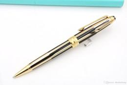$enCountryForm.capitalKeyWord Australia - Writing Supplies Business gift Pen Plate Sculpture Pattern 163 BLACK AND GOLDEN metal Ballpoint Pen