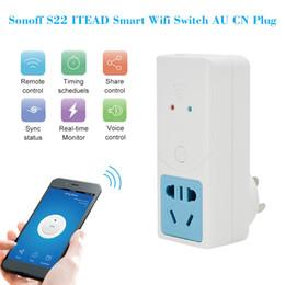 Power Wireless Remote Control Switch Socket Australia - Smart Wifi Socket Switch AU CN Plug Wireless Home Switch Power Sockets Remote Control for IOS Android Smartphone Alexa Google IFTTT