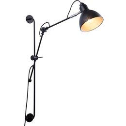 Nordic Classique Réglable Moderne Industrielle Long Bras Oscillant Lampe De  Mur Noir Applique Vintage E27 Lumières Pour Salle De Bains Chambre Hall