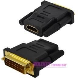 laptop dvi Australia - DVI MALE 24 + 1 PIN TO HDMI FEMALE to male ADAPTER CONNECTOR CONVERTER LAPTOP PC MONITOR 200pcs lot
