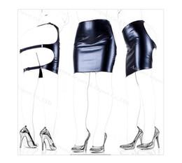 Wholesale porn games resale online - Black Pu Erotic Fetish Dress Mini Adult Game Porn Skirt Sex Bdsm Bondage Women Y19052902