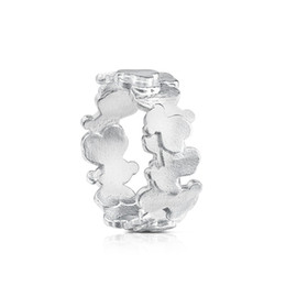 $enCountryForm.capitalKeyWord UK - DORAPANG NEW 100% 925 Sterling Silver Charm Sweet Bear Ring Original Women's Simple Fashion Jewelry Holiday Gift Jewelry
