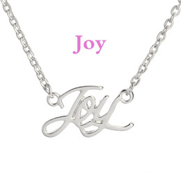 Chinese  Joy Word Letter Necklace smile Charm Connector have fun Pendant For Jewelry gift for her manufacturers