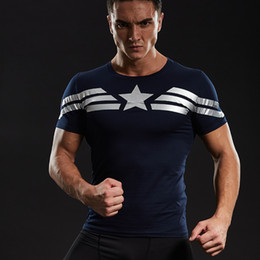 Discount civil 3d - Captain America T Shirt 3d Printed T-Shirts Men Avengers Iron Man Civil War Tee Cotton Fitness Clothing Male Crossfit To