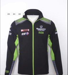 windproof suit NZ - 2020 Kawasaki motorcycle sweater outdoor leisure factory service locomotive riding windproof plus cotton jacket racing suit with the same cu