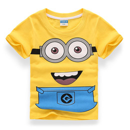 c343cd30 Minions Clothes Australia - Cute Minion Boys Girls Cotton Fabric T-shirts  Children's Clothing Clothes