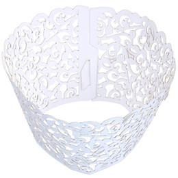 $enCountryForm.capitalKeyWord Australia - Vine Cupcake Holders Filigree Vine Designed Decor Wrapper Wraps Cupcake Muffin Paper Holders - 50pcs (Bright Silver )
