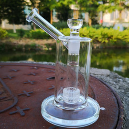 Discount mobius water pipes - 22cm Tall 5mm Thick Mobius Glass Bongs Water Pipes Straight Tube Bong Clear Matrix Perc Glass Dab Rig Sidecar Oil Rigs 1