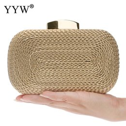 $enCountryForm.capitalKeyWord Australia - Small Purse Evening Bags For Women's Wedding Party Bag Fashion Women Messenger Bags With Chain Vintage Metal Weave Day Clutches