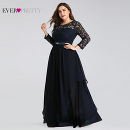$enCountryForm.capitalKeyWord Australia - Plus Size Mother Of The Bride Dresses Ever Pretty 7716 Elegant Long Sleeve Lace A-line Crystal Sashes 2019 Evening Party Gowns Y19072901