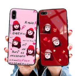 $enCountryForm.capitalKeyWord Australia - NEW Tempered glass cell phone case cover for Iphone XS max X 6S 7 8 PLUS - girl