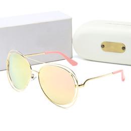 Womens Polarized Sun Glasses NZ - High Quality Classic Pilot Sunglasses Designer Brand Mens Womens Sun Glasses Tom Eyewear Gold Metal Gold Glass Lenses Brown Case #0838