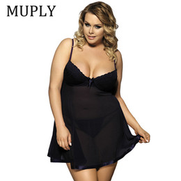 Wholesale sex hot gold for sale - Group buy Muply Plus Size Sex Lingerie V Neck Sleepwear Babydoll Porno Underwear Lingerie Sexy Erotic Hot Dress Intimate Goods Sex Costume Y19070302