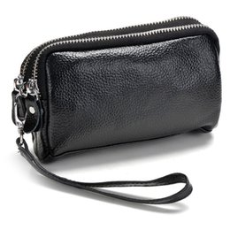 prices purses NZ - 2019 Fashion genuine leather Wallet Women Long Purse Clutch Women double zipper Dollar Price cowhide Wallet Handbag carteira #111723