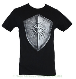 $enCountryForm.capitalKeyWord Australia - Newest 2018 Men's Fashion Dragon Age Inquisition Mens T-shirt Eye And And Sword Stone Shield Image