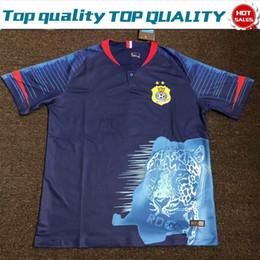 Dr shorts online shopping - 2019 DR Congo national football team Home Blue Soccer Jersey Football Shirt Football League Club Short Sleeve Blue Uniform On Sales