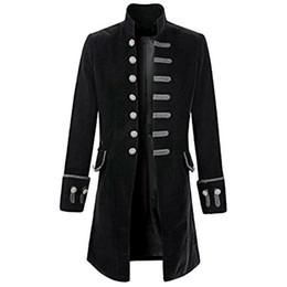 $enCountryForm.capitalKeyWord UK - SHUJIN Male Tuxedo Suit Wedding Suit Fashion Slim Punk Vintage Dress Blazers Solid Long Gothic Jackets Party Plus Size 3XL