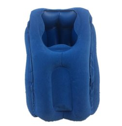 Travel Support Pillow Australia - Portable outdoor travel camping inflatable pillow head neck support throw pillows travel office rest air cushion U shape pillow