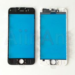 front lcd display screen iphone NZ - 10 Pcs LCD Touch Screen Glass For iPhone 6 6s 7 8 Plus XR 5s 5 Outer Display Screen With Front Frame Repair Parts Replacement