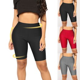 $enCountryForm.capitalKeyWord NZ - Women High Waist Yoga Shorts Leggings Solid shorts Gym Fitness Compression Fit Tight Push Up Sports Wear Slim Workout Trousers