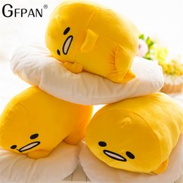 egg plush Australia - 40*30cm Gudetama Jun Plush Toy Egg Yolk Brother Large Pillow Lazy Balls Stuffed Doll For Children Christmas Gift SH190628