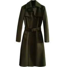 53ba392ba59ba Mens trench coats man long coat men loose clothes slim fit overcoat long  sleeve autumn winter 2018 new designer fashion belt