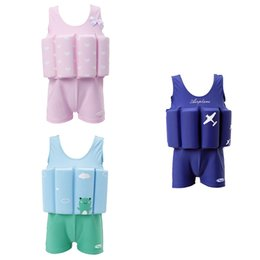 Wholesale Children Swimwear With Floating Foam Girls Boys Infant Baby Safe Nylon Spandex Swimsuit Swimming Pool Suit