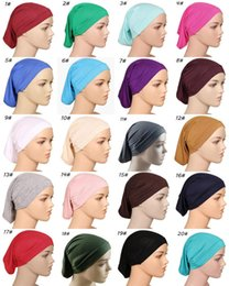 Ear Cotton Australia - Hats & Caps For Women 2019 Brand New Fashion Muslim Hat High Quality Classic Plain Mercerized Cotton Ear Muffs Wholesale HA001