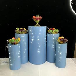 $enCountryForm.capitalKeyWord Australia - 2019 grand event flower cake dessert candy crafts display metal rack wedding table cylinder Pillar stand rack for kids baby 100 days shower