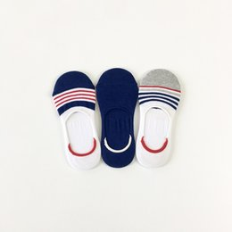blend sneakers NZ - Wholesale Men invisible ankle socks women sneaker socks Unisex short slippers socks comb cotton good quality with nonlsip size 6-8.5