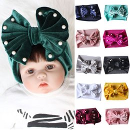 2019 Solid Newborn Kids Baby Boy Girl Infant Bow Soft Cute Hat Turban  Beanie Hat Winter Cap 255159cde08f