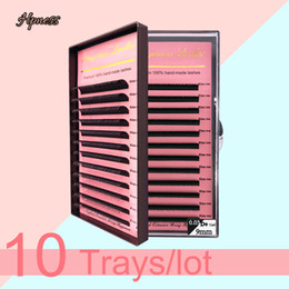 mixed tray eyelash UK - HPNESS 10 Trays Lot Eyelash Extension 3D Individual Lashes C D U Curl All Sizes 8-15mm Mixed Length in One Tray
