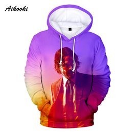 tracksuit 3d mens Australia - Aikooki John Wick 3 Hoodies Men Women Hoodie Sweatshirts Hooded Mens John Wick Tracksuits Cool Design 3D Fashion Polluvers Coat